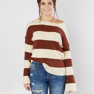 Gilded Intent Striped Sweater NWOT